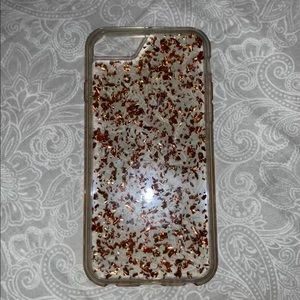 Rose gold flake iPhone 6 case